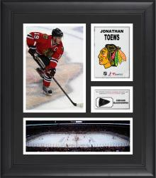 Jonathan Toews Chicago Blackhawks Framed 15'' x 17'' Collage with Game-Used Puck-Limited Edition of 500 - Mounted Memories