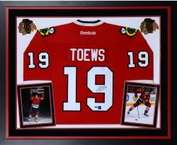 TOEWS, JONATHAN FRMD AUTO (DELUXE) (BLKHKS/RBK/PREMIER) JRSY - Mounted Memories