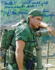 """TOM BERENGER PLATOON """"DEATH? WHAT Y'ALL KNOW ABOUT DEATH?""""  JSA SIGNED 8x10"""