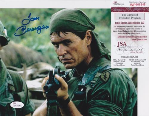 TOM BERENGER Signed PLATOON Movie 8x10 photo + JSA COA WP669345