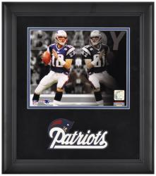 Tom Brady New England Patriots Framed 8'' x 10'' Reflections Photograph - Mounted Memories