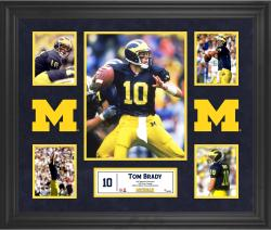 Tom Brady Michigan Wolverines Framed 5-Photo Collage