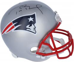 Tom Brady New England Patriots Autographed Riddell Replica Helmet - Mounted Memories