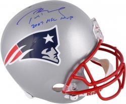 Tom Brady New England Patriots Autographed Riddell Replica Helmet with 07 NFL MVP Inscription