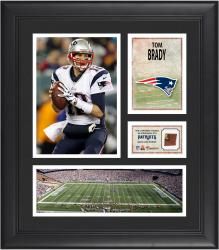 Tom Brady New England Patriots Framed 15'' x 17'' Collage with Game-Used Football - Mounted Memories