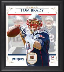 "Tom Brady New England Patriots Framed 15"" x 17"" Composite Collage with Piece of Game-Used Football"