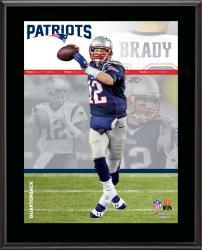 """Tom Brady New England Patriots Sublimated 10.5"""" x 13"""" Composite Plaque"""