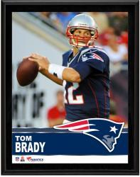 """Tom Brady New England Patriots Sublimated 10.5"""" x 13"""" Plaque"""
