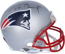 Tom Brady New England Patriots Autographed Riddell Pro-Line Authentic Helmet - Mounted Memories