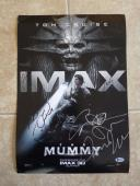 Tom Cruise + 5 Cast Signed Autograph 13X19 The Mummy Movie Poster BAS Certified