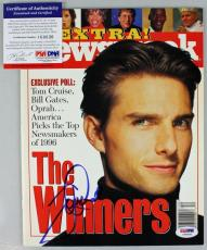 Tom Cruise Signed Autographed 1997 Newsweek Magazine PSA/DNA #I64636