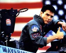 Tom Cruise Autographed 16x20 U.S.A. Flag Poster Photo Exact Video Proof