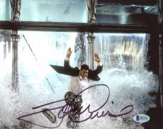"""Tom Cruise Autographed 8"""" x 10"""" Mission Impossible Jumping Through Window Photograph - Beckett COA"""