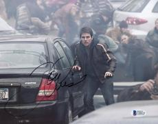 """Tom Cruise Autographed 8""""x 10"""" War of the Worlds Next to Car Photograph - BAS COA"""