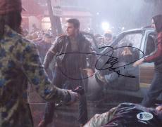 "Tom Cruise Autographed 8""x 10"" War of the Worlds Rain Photograph - BAS COA"