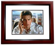 "Tom Cruise Autographed ""Jerry Maguire"" 8x10 Photo MAHOGANY CUSTOM FRAME"