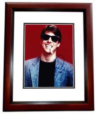 Tom Cruise Signed - Autographed RISKY BUSINESS 8x10 Photo MAHOGANY CUSTOM FRAME