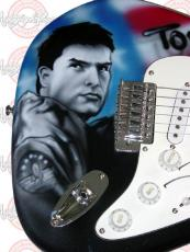 TOM CRUISE Autographed TOP GUN Signed Guitar PSA/DNA