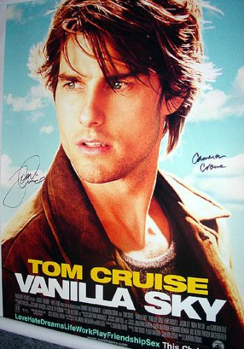 TOM CRUISE & CAMERON CROWE Signed Poster & PROOF    AFTAL