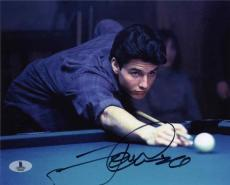 Tom Cruise Color of Money Autographed Signed 8x10 Photo Beckett BAS COA