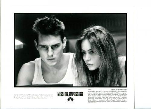Tom Cruise Emanuelle Beart Mission Impossible Original Press Still Movie Photo