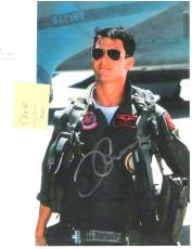 "TOM CRUISE in ""TOP GUN"" as MAVERICK - Signed 8.5x11 Paper Thin Color"