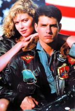 Tom Cruise Kelly McGillis Dual Signed Autographed 16X24 Photo Top Gun JSA Z47221