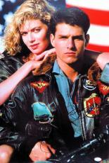 Tom Cruise Kelly McGillis Dual Signed Autographed 16X24 Photo Top Gun JSA Z47221