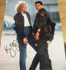 "Tom Cruise & Kelly Mcgillis Signed Autograph ""top Gun"" Rare Poster 11x14 Photo"