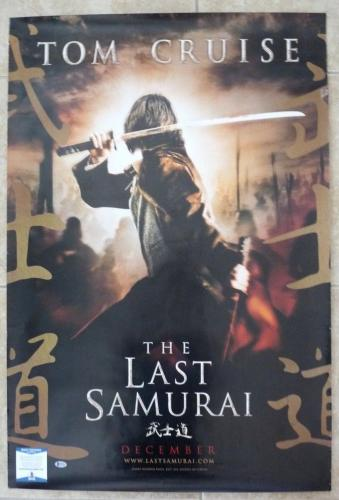 Tom Cruise Last Samurai Signed Autographed 27x34 Poster Beckett Certified READ
