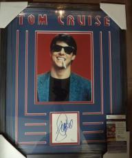 Tom Cruise Movie Legend Jsa Coa Signed Cut 8x10 Photo Double Matted Framed