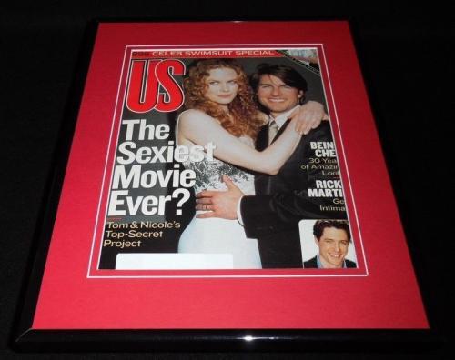 Tom Cruise Nicole Kidman Framed 11x14 ORIGINAL 1999 US Magazine Cover