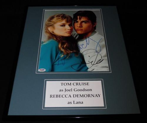 Tom Cruise & Rebecca De Mornay Signed Framed 16x20 Photo Set PSA/DNA