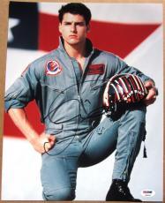 Tom Cruise signed 11x14 photo Top Gun PSA/DNA autograph