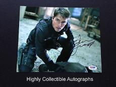 Tom Cruise Signed 8x10 Photo Autograph Mission Impossible Psa Dna Coa