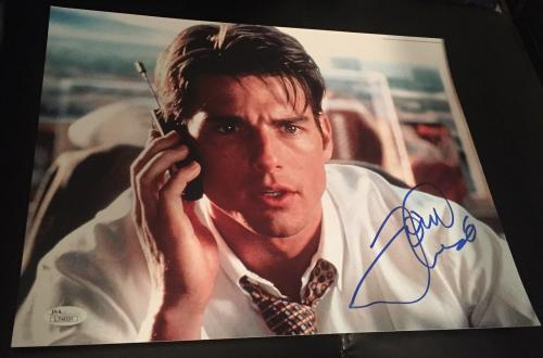 "Tom Cruise Signed Autograph Famous ""jerry Maguire"" Money 11x14 Photo Jsa L74031"