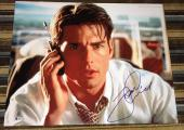 "TOM CRUISE SIGNED AUTOGRAPH FRAMED MATTED ""JERRY MAGUIRE"" HUGE 16x20 PHOTO BAS"