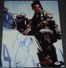 "Tom Cruise Signed Autograph ""top Gun"" Classic Plane 11x14 Photo Psa/dna W37980"