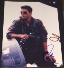 "Tom Cruise Signed Autograph ""top Gun"" Hot Action Pose 11x14 Photo Psa/dna W58916"