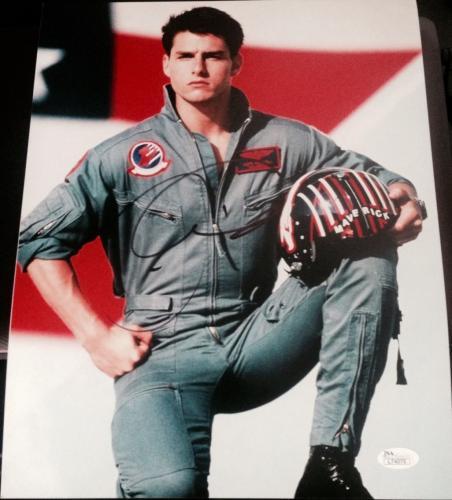 "Tom Cruise Signed Autograph  ""top Gun"" Maverick Hot Pose 11x14 Photo Jsa L74075"