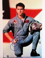 Tom Cruise Signed Autographed 11X14 Photo Top Gun Maverick Flight Suit GV819141