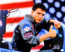 Tom Cruise Signed Autographed 16X20 Photo Top Gun Maverick in Cockpit JSA S93325