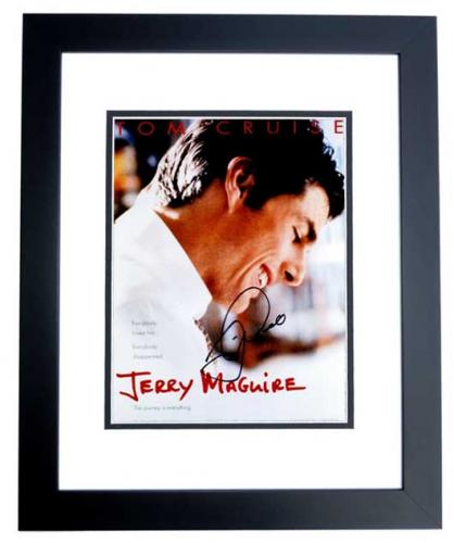 Tom Cruise Signed - Autographed Jerry Maguire 11x14 inch Photo BLACK CUSTOM FRAME - Guaranteed to pass PSA or JSA