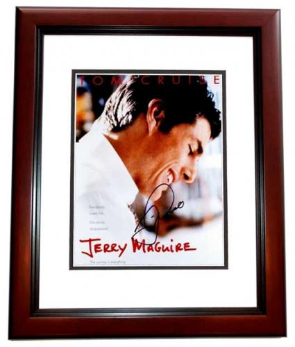 Tom Cruise Signed - Autographed Jerry Maguire 11x14 inch Photo MAHOGANY CUSTOM FRAME - Guaranteed to pass PSA or JSA