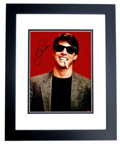 Tom Cruise Signed - Autographed Risky Business 11x14 inch Photo BLACK CUSTOM FRAME - Guaranteed to pass PSA or JSA
