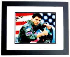 Tom Cruise Signed - Autographed TOP GUN 11x14 Photo BLACK CUSTOM FRAME
