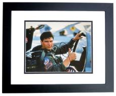 Tom Cruise Signed - Autographed TOP GUN 11x14 inch Photo BLACK CUSTOM FRAME - Guaranteed to pass PSA or JSA