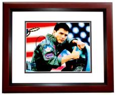 Tom Cruise Signed - Autographed TOP GUN 11x14 inch Photo MAHOGANY CUSTOM FRAME - Guaranteed to pass PSA or JSA