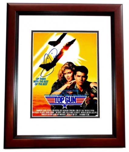 Tom Cruise Signed - Autographed TOP GUN - Maverick 11x14 inch Photo MAHOGANY CUSTOM FRAME - Guaranteed to pass PSA or JSA