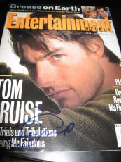 Tom Cruise Signed Entertainment Weekly Mag Mission Impossible Sexy Stud Rare D